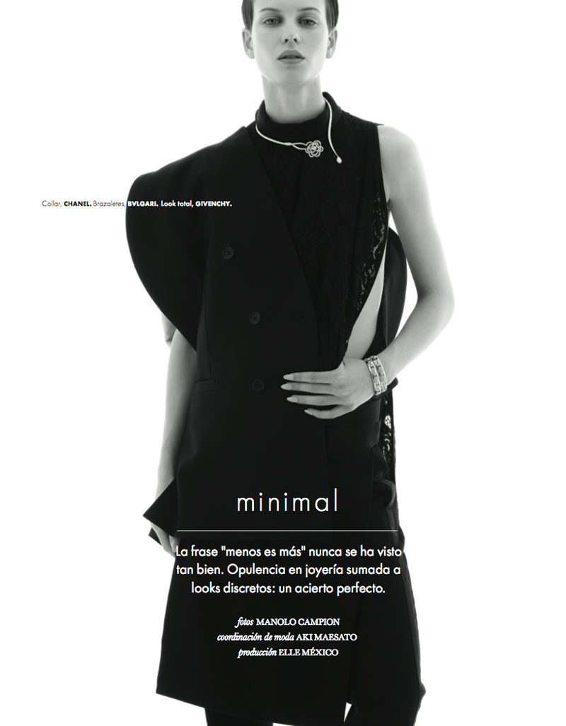 ellinore erichsen2 Ellinore Erichsen is a Minimalist for Elle Mexico May 2013 by Manolo Campion