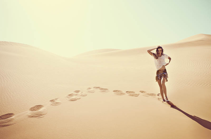 eurowoman milou3 Milou Sluis is a Desert Princess for Eurowoman June 2013 by Jonas Bie