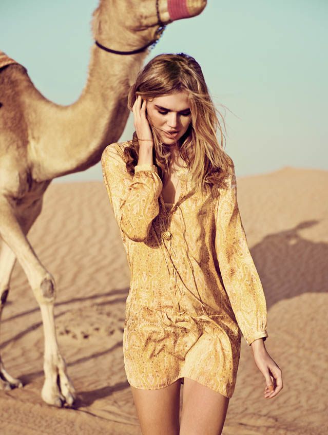 eurowoman milou4 Milou Sluis is a Desert Princess for Eurowoman June 2013 by Jonas Bie