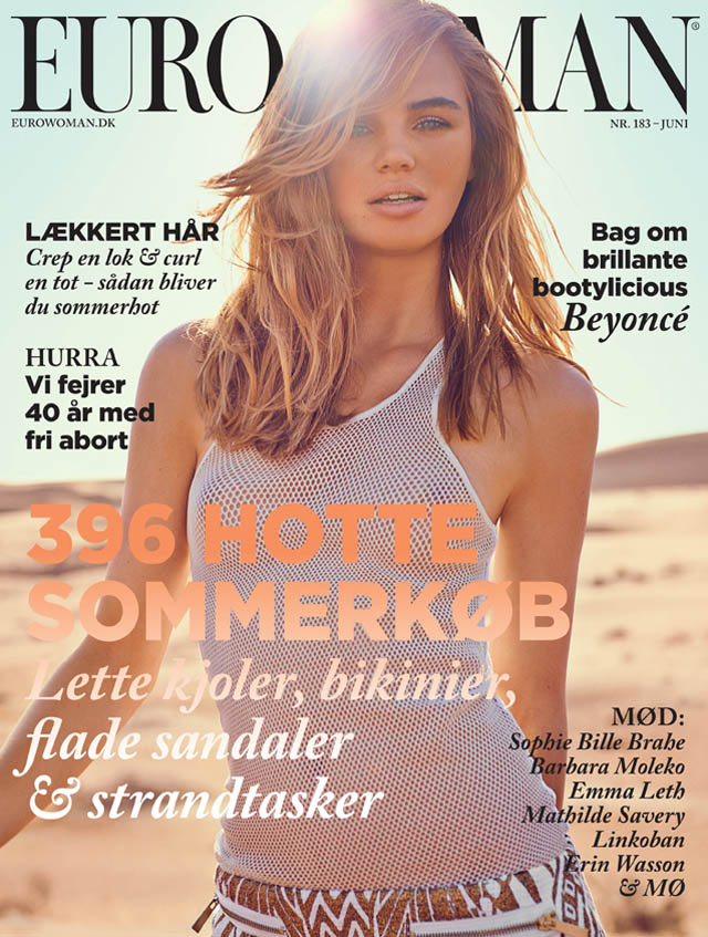 Milou Sluis is a Desert Princess for Eurowoman June 2013 by Jonas Bie