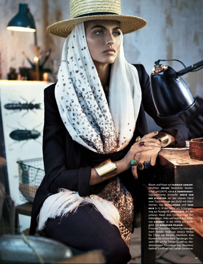 folk style giampaolo sgura11 Karlina Caune Dons Folk Fashion for Vogue Germany May 2013 by Giampaolo Sgura