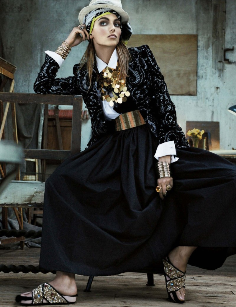 folk style giampaolo sgura5 Karlina Caune Dons Folk Fashion for Vogue Germany May 2013 by Giampaolo Sgura