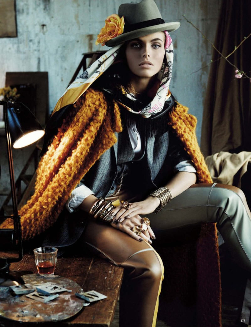 folk style giampaolo sgura7 Karlina Caune Dons Folk Fashion for Vogue Germany May 2013 by Giampaolo Sgura