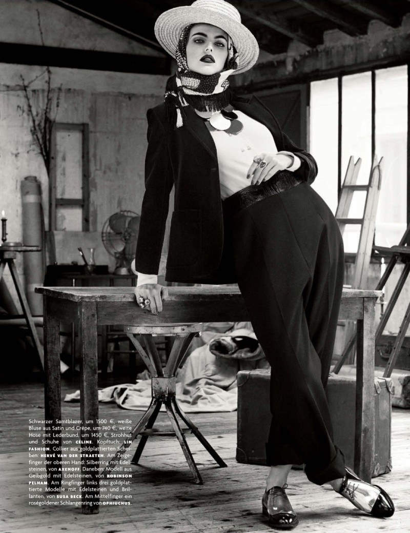 folk style giampaolo sgura9 Karlina Caune Dons Folk Fashion for Vogue Germany May 2013 by Giampaolo Sgura