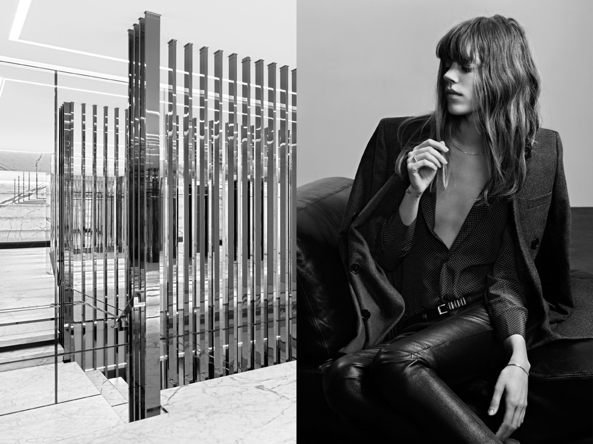 freja beha saint laurent1 Freja Beha Erichsen Stars in Saint Laurent Pre Fall 2013 Campaign by Hedi Slimane