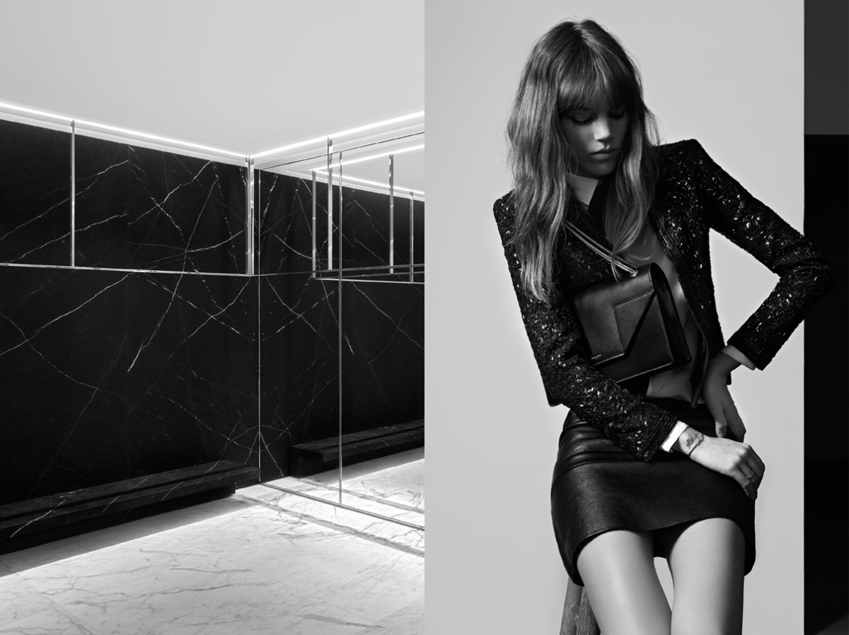 freja beha saint laurent8 Freja Beha Erichsen Stars in Saint Laurent Pre Fall 2013 Campaign by Hedi Slimane