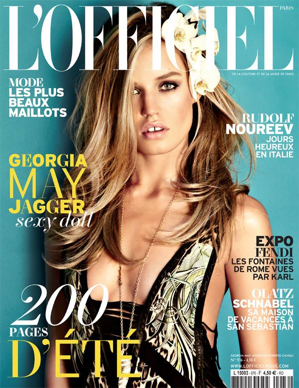 georgia may jagger lofficiel cover Georgia May Jagger Graces LOfficiel Paris June/July 2013 Cover