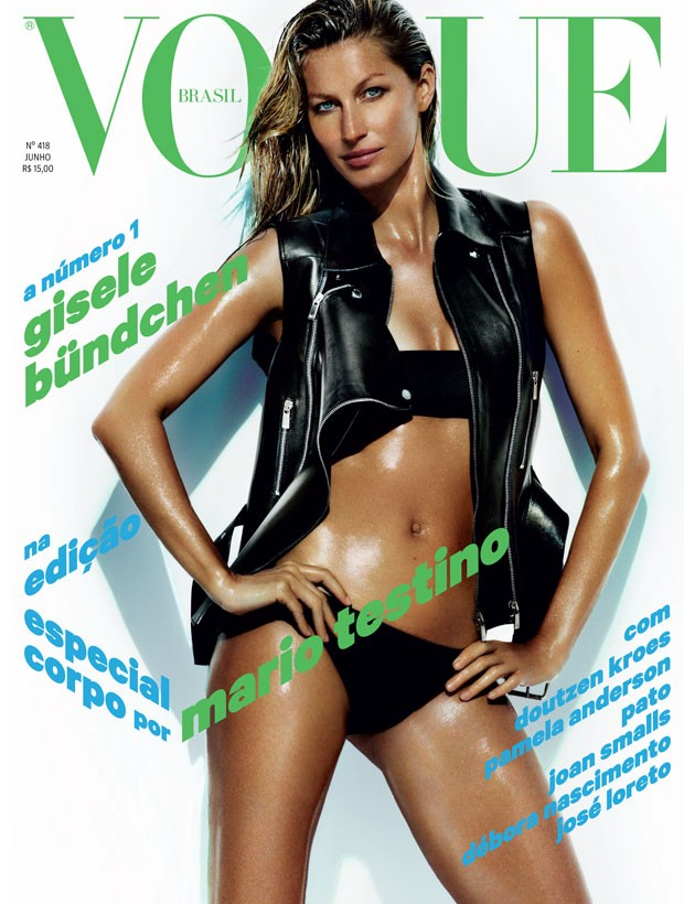 gisele bundchen vogue brazil cover Gisele Bundchen Shows Off Swimsuit Body on Vogue Brazil June 2013 Cover