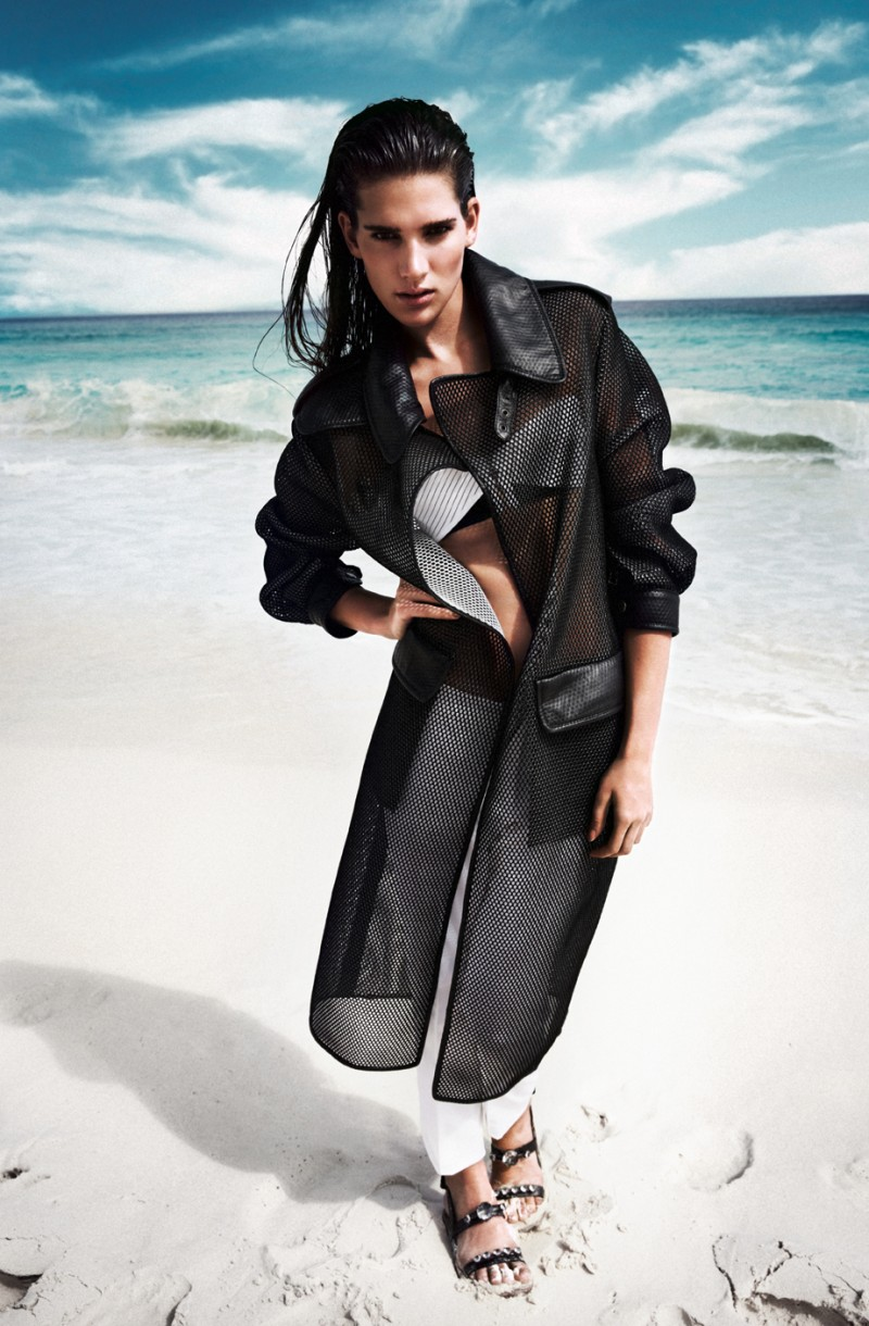 grazia sea6 Natalia Oberhanss Dons Black and White Style for Grazia Germany