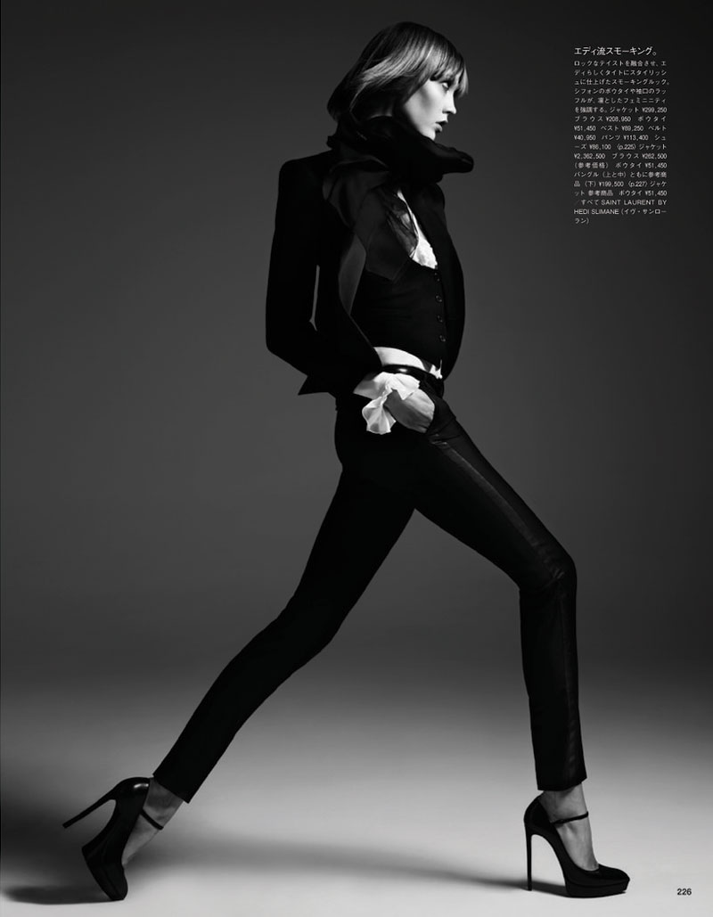 hedi slimane karlie kloss4 Karlie Kloss Poses for Hedi Slimane in Vogue Japan June 2013