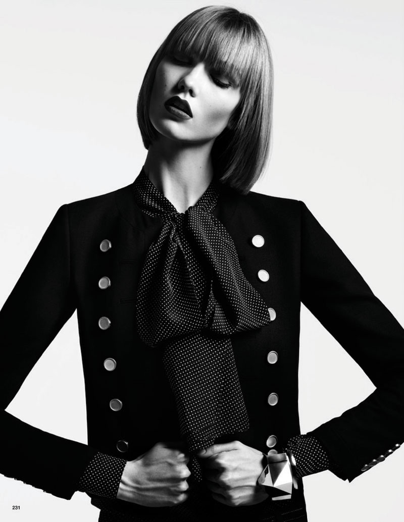 hedi slimane karlie kloss5 Karlie Kloss Poses for Hedi Slimane in Vogue Japan June 2013