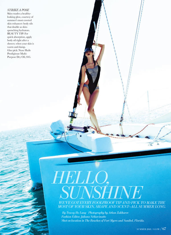 hello sunshine glow2 Rachel Alexander Has a Beach Outing for Glow Magazine Summer 2013