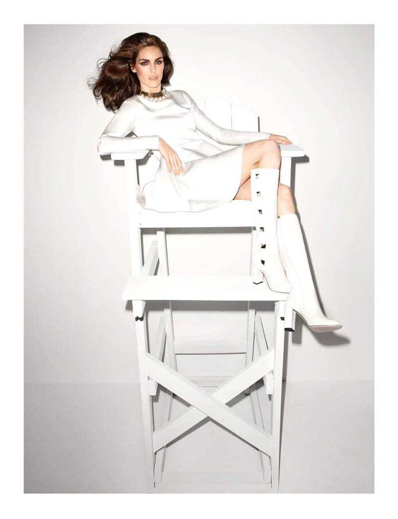Terry Richardson Snaps Hilary Rhoda in Monochromatic Style for Vogue Paris June/July 2013