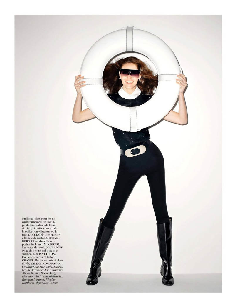 hilary rhoda vogue shoot11 Terry Richardson Snaps Hilary Rhoda in Monochromatic Style for Vogue Paris June/July 2013