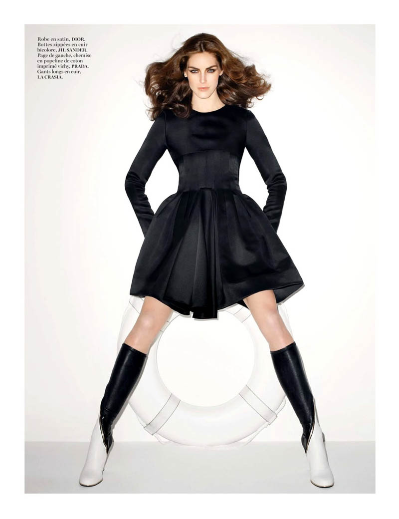 hilary rhoda vogue shoot12 Terry Richardson Snaps Hilary Rhoda in Monochromatic Style for Vogue Paris June/July 2013