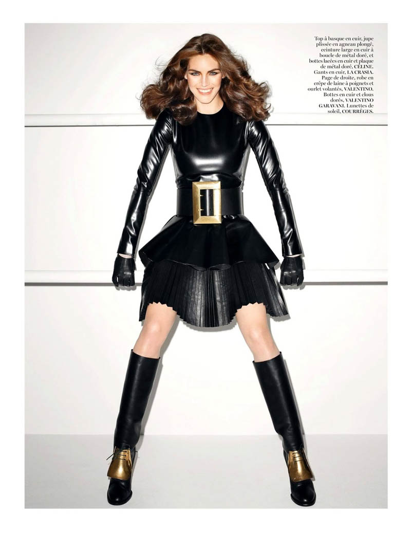 hilary rhoda vogue shoot3 Terry Richardson Snaps Hilary Rhoda in Monochromatic Style for Vogue Paris June/July 2013