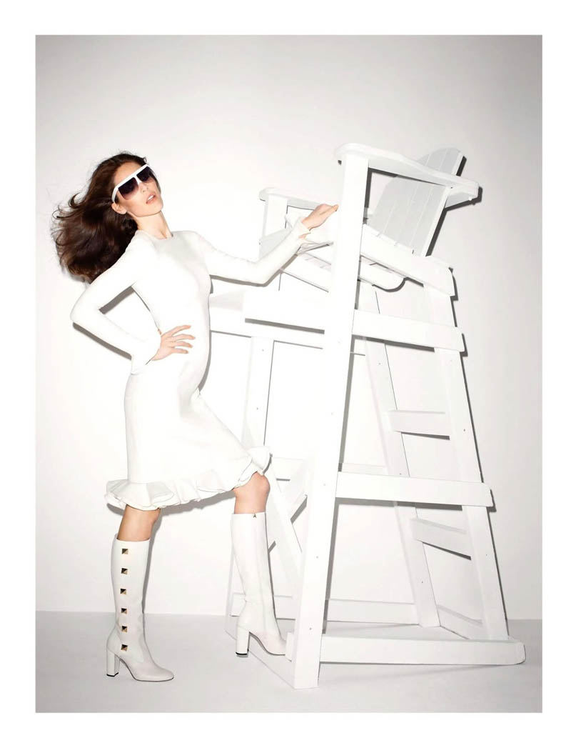 hilary rhoda vogue shoot4 Terry Richardson Snaps Hilary Rhoda in Monochromatic Style for Vogue Paris June/July 2013