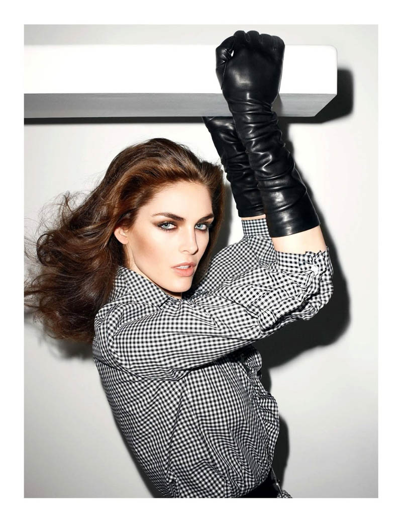hilary rhoda vogue shoot9 Terry Richardson Snaps Hilary Rhoda in Monochromatic Style for Vogue Paris June/July 2013
