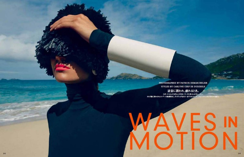 image001 800x514 Magdalena Langrova Gets Active for Vogue Japan July 2013 by Patrick Demarchelier