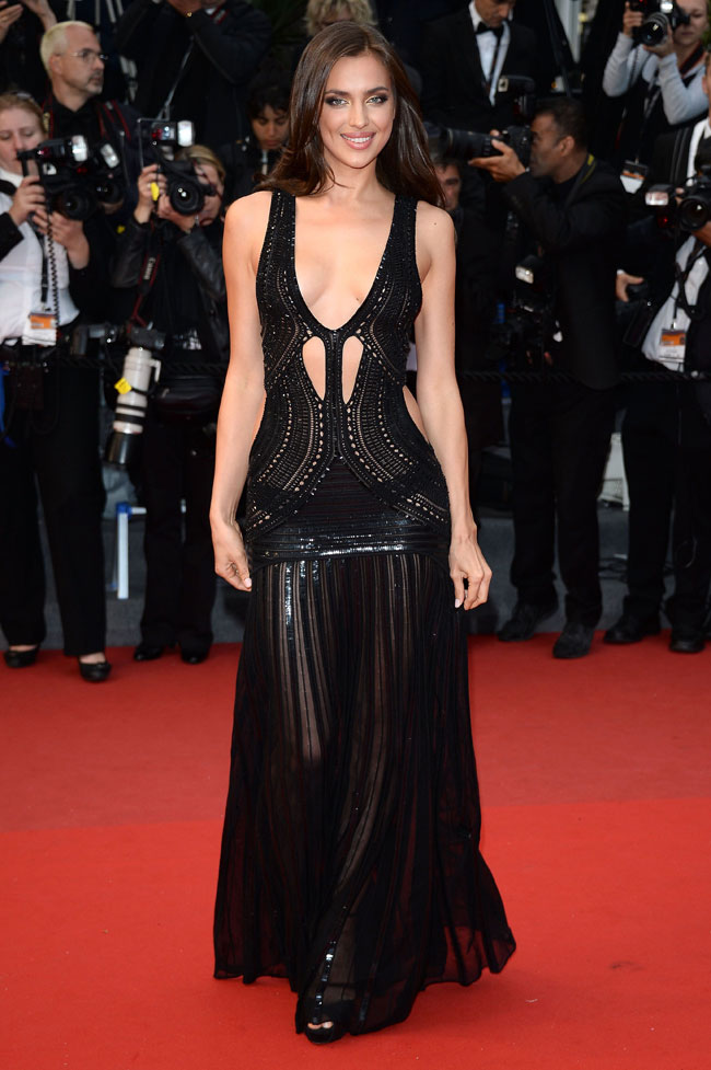 irina cavalli1 Irina Shayk is Sexy in Roberto Cavalli at the All is Lost Cannes Premiere