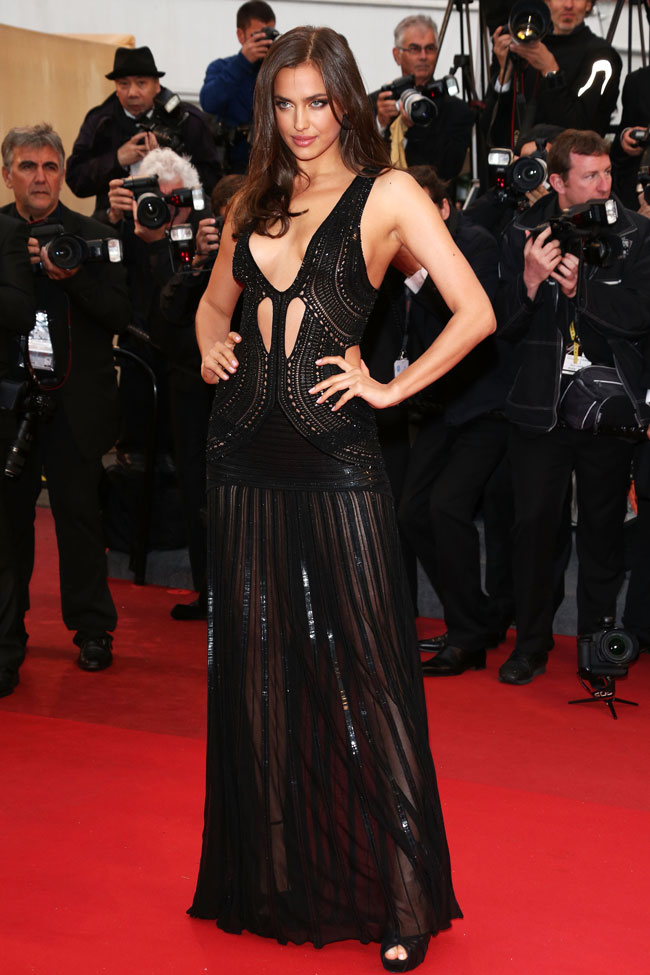 irina cavalli2 Irina Shayk is Sexy in Roberto Cavalli at the All is Lost Cannes Premiere
