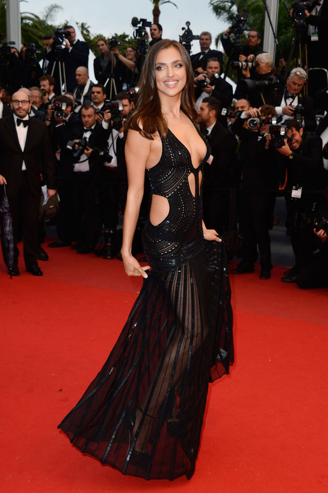 irina cavalli4 Irina Shayk is Sexy in Roberto Cavalli at the All is Lost Cannes Premiere