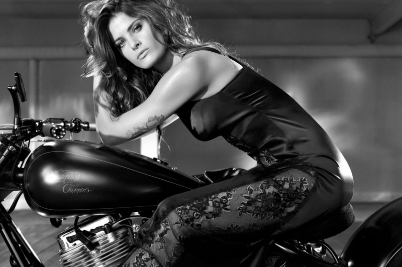 isabeli redemption choppers3 800x532 Isabeli Fontana Fronts Redemption Choppers Spring 2013 Campaign
