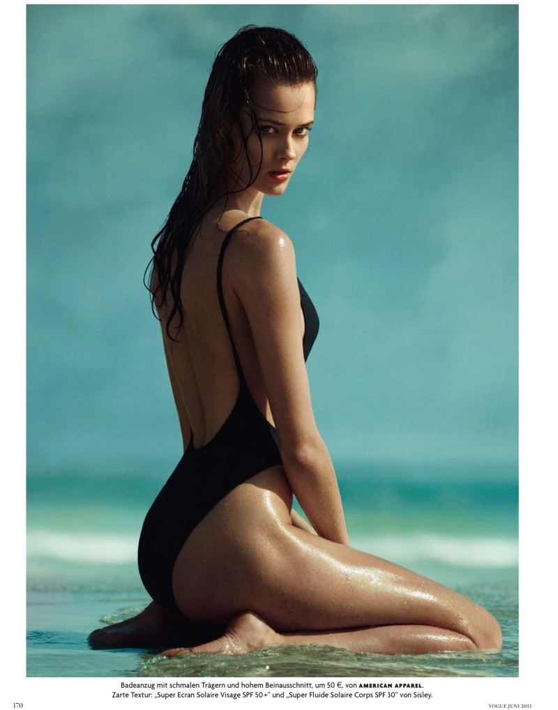 jac jagaciak greg kadel1 Jac Jagaciak Sports Summer Swim for Vogue Germany June 2013 by Greg Kadel
