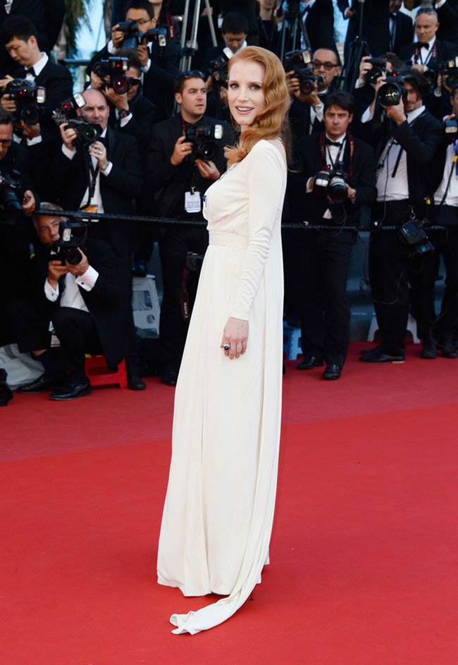 jessica chastain versace3 Jessica Chastain Wears Versace at the Cleopatra Cannes Film Festival Premiere