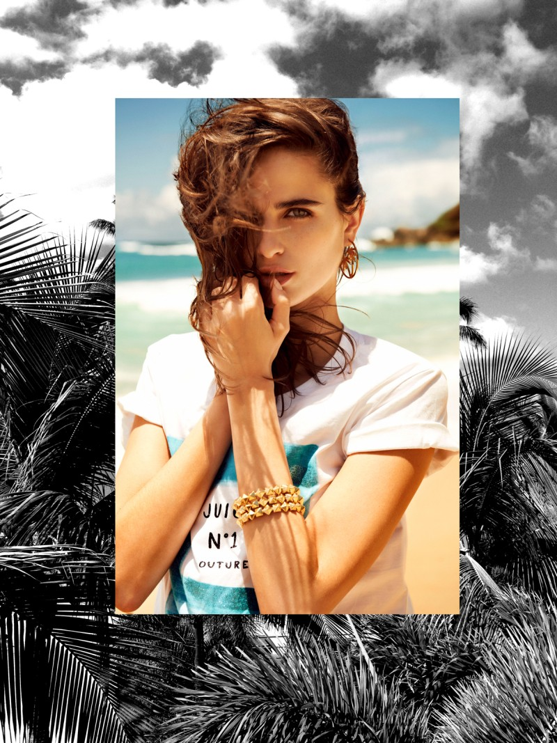 juicy couture loulou robert1 Loulou Robert Hits the Beach for Juicy Couture Summer 2013