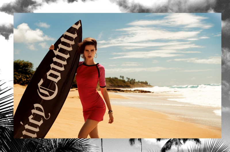 juicy couture loulou robert5 Loulou Robert Hits the Beach for Juicy Couture Summer 2013