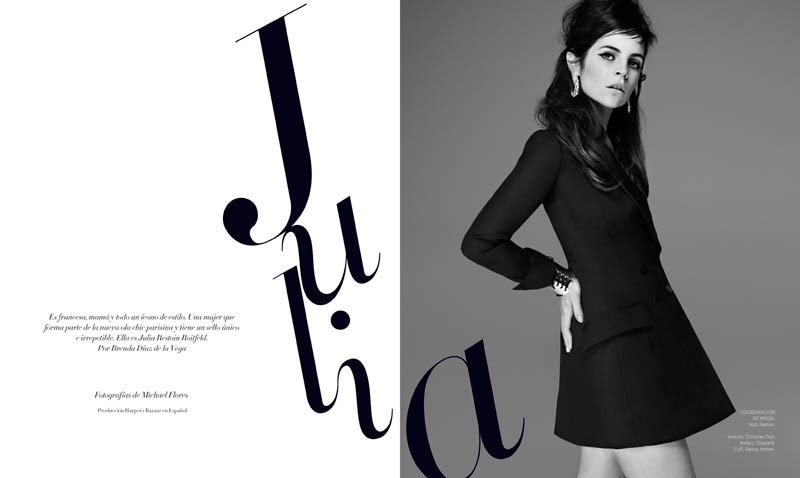 juliaG 1 Juila Restoin Roitfeld Stars in Harpers Bazaar Latin America May 2013 by Michael Flores