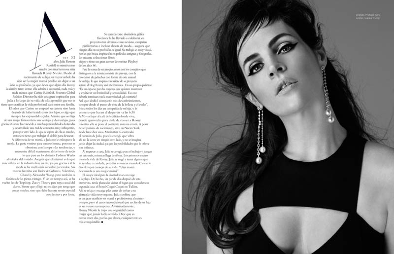 juliaG 2 Juila Restoin Roitfeld Stars in Harpers Bazaar Latin America May 2013 by Michael Flores