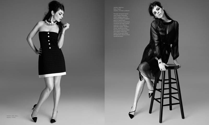 juliaG 5 Juila Restoin Roitfeld Stars in Harpers Bazaar Latin America May 2013 by Michael Flores