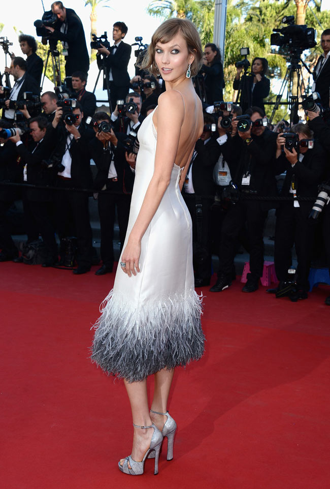 karlie kloss louis vuitton2 Karlie Kloss Dons Louis Vuitton at The Immigrant Cannes Film Festival Premiere