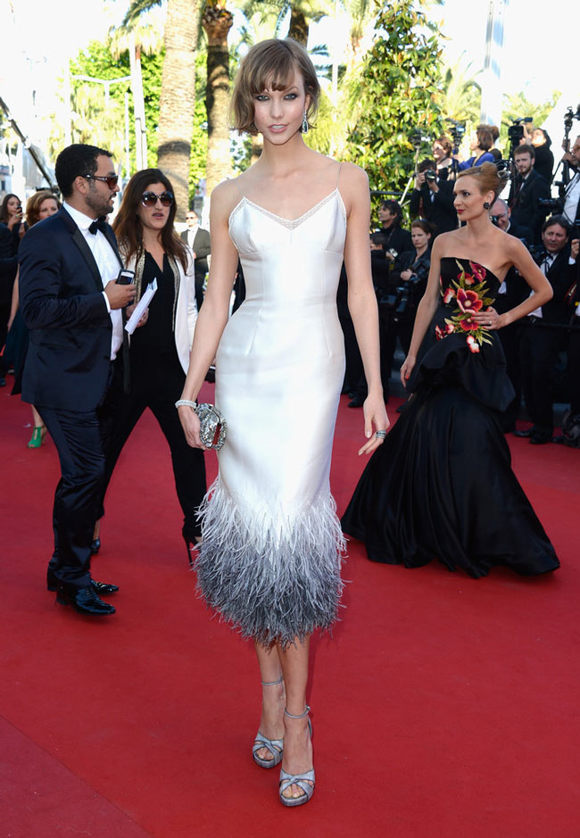 karlie kloss louis vuitton3 Karlie Kloss Dons Louis Vuitton at The Immigrant Cannes Film Festival Premiere