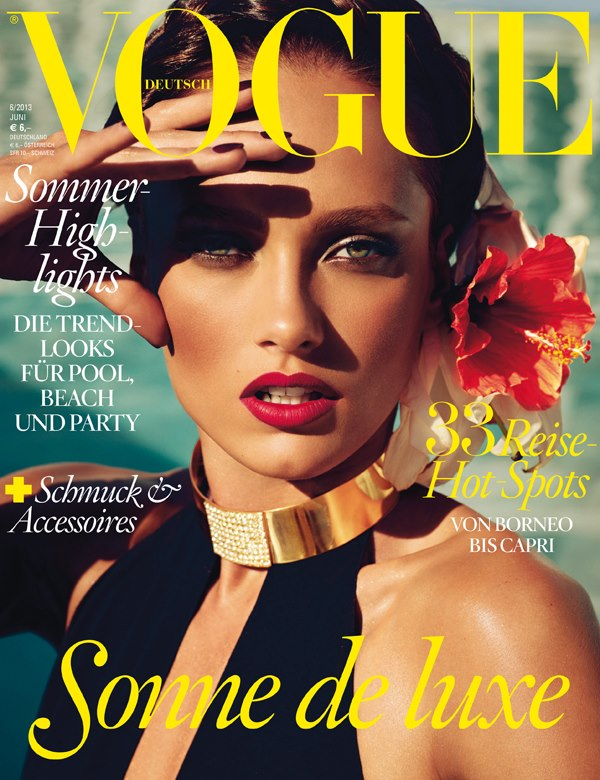 karmen pedaru vogue germany cover Karmen Pedaru Graces June 2013 Cover of Vogue Germany