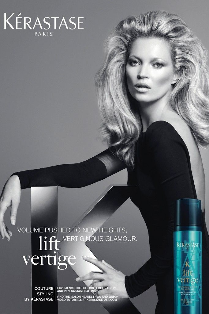 kate moss kerastase1 Kate Moss Gets Glam for New Kérastase Couture Styling Campaign