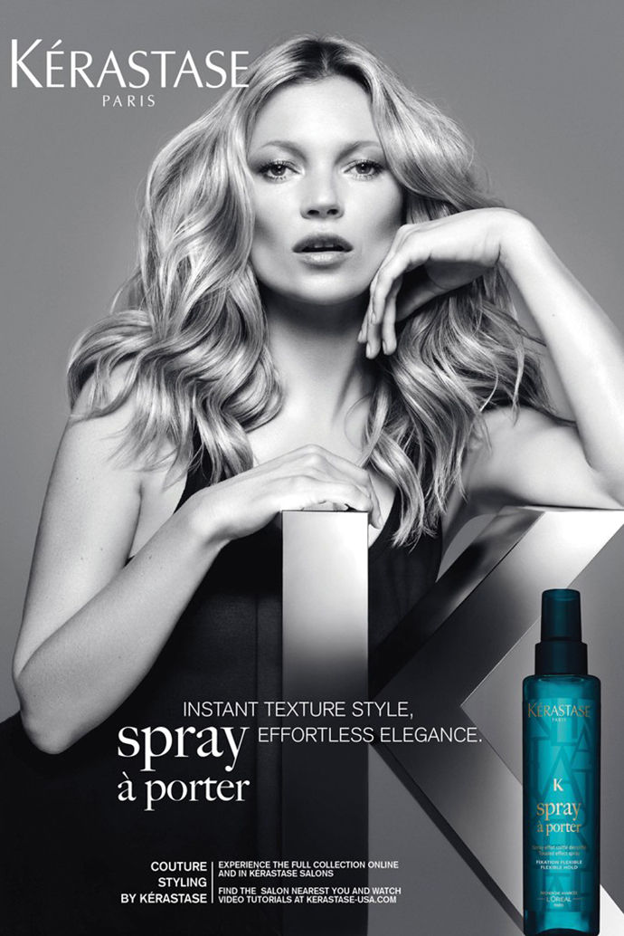 kate moss kerastase2 Kate Moss Gets Glam for New Kérastase Couture Styling Campaign