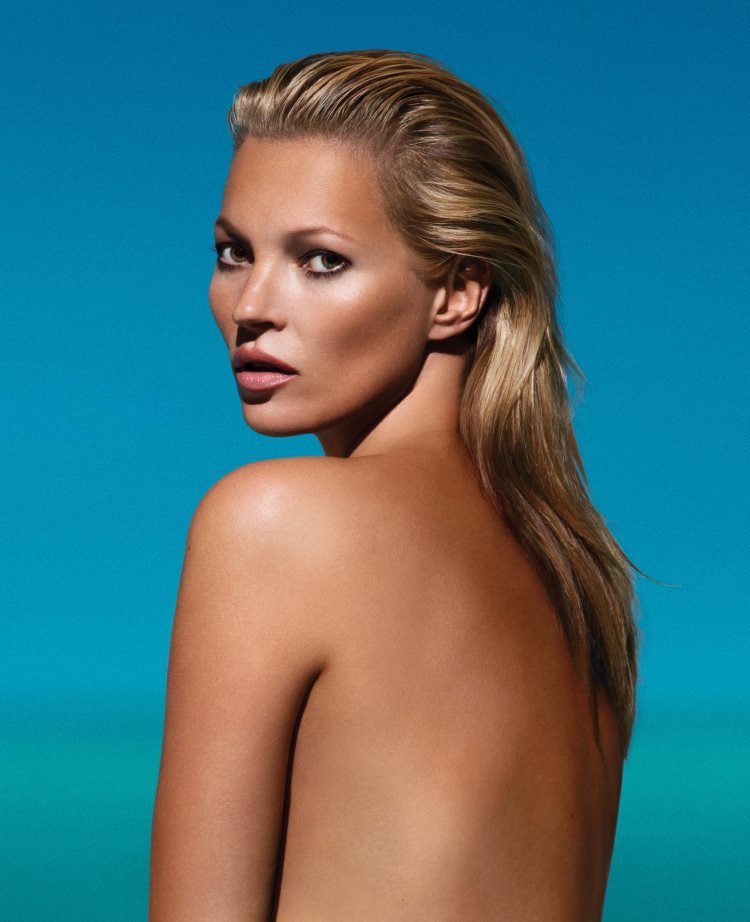 kate moss st tropez2 Kate Moss is the Tanned New Face of St. Tropez
