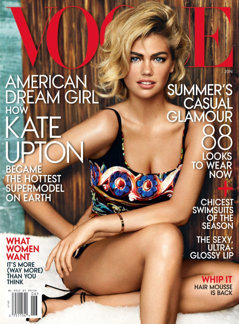 kate upton vogue cover1 Kate Upton Cements Supermodel Status on Vogue US June 2013 Cover