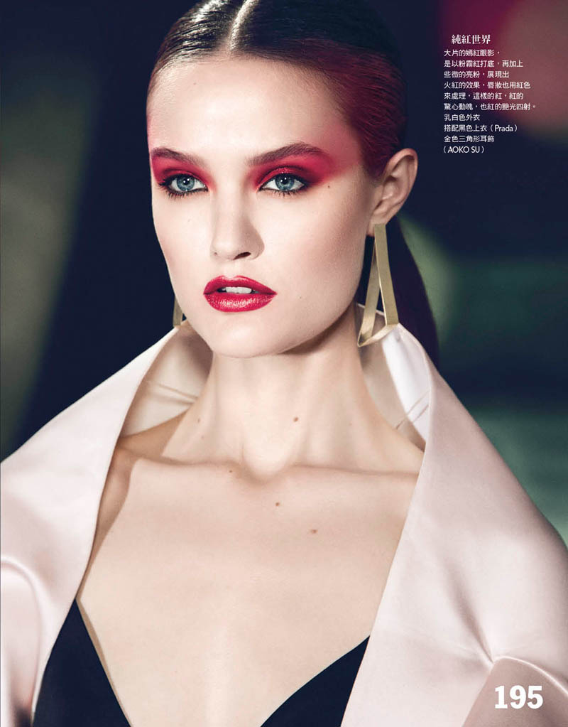 katie fogarty vogue taiwan2 Katie Fogarty is A Rebel in Red for Vogue Taiwan May 2013 by Yossi Michaeli
