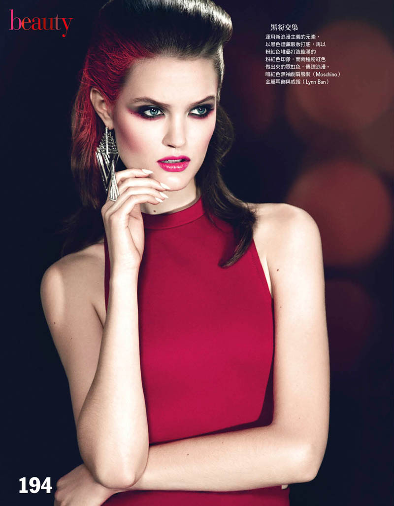 katie fogarty vogue taiwan3 Katie Fogarty is A Rebel in Red for Vogue Taiwan May 2013 by Yossi Michaeli