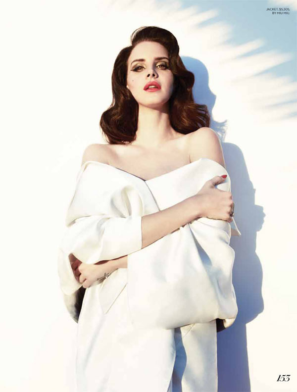 lana fashion magazine4 Lana Del Rey Turns Up the Glam for Fashion Magazines Summer 2013 Cover Shoot