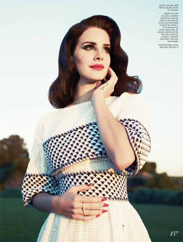 lana fashion magazine7 Lana Del Rey Turns Up the Glam for Fashion Magazines Summer 2013 Cover Shoot