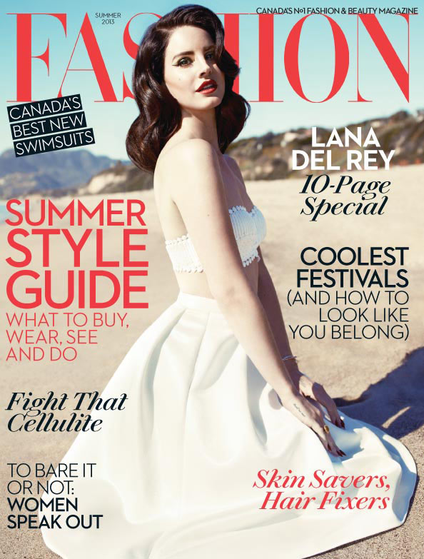 lana fashion magazine8 Lana Del Rey Turns Up the Glam for Fashion Magazines Summer 2013 Cover Shoot