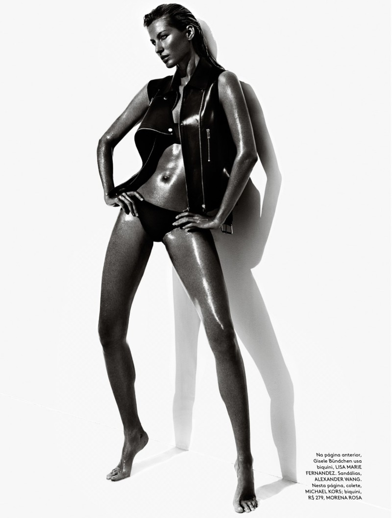 mario testino gisele2 Gisele Bundchen Wows for Vogue Brazil June 2013 by Mario Testino