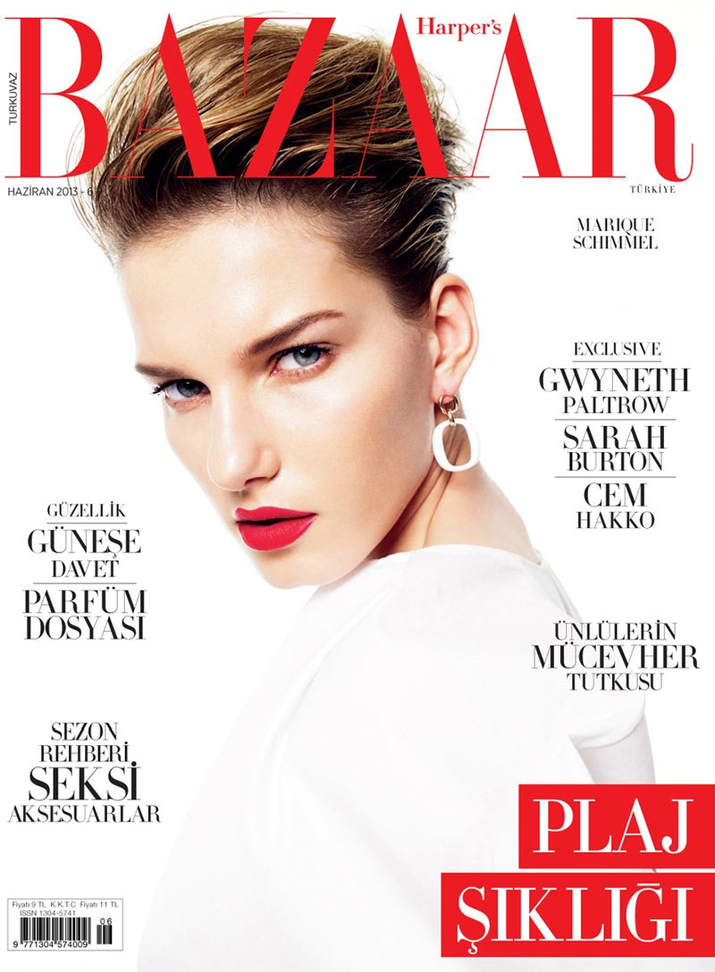 marique schimmel bazaar turkey10 Gianluca Fontana Lenses Marique Schimmel for Harpers Bazaar Turkey June 2013 Cover Story