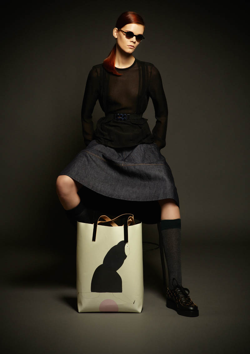 marni winter collab1 Marni Collaborates with Artist Romina Quiros on Winter 2013 Denim Collection