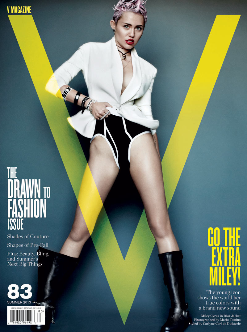 miley cyrus v magazine1 Miley Cyrus Gets Rebellious for V Magazine #83 Covers